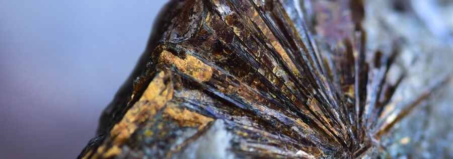 Astrophyllite with gold flecks and interesting properties
