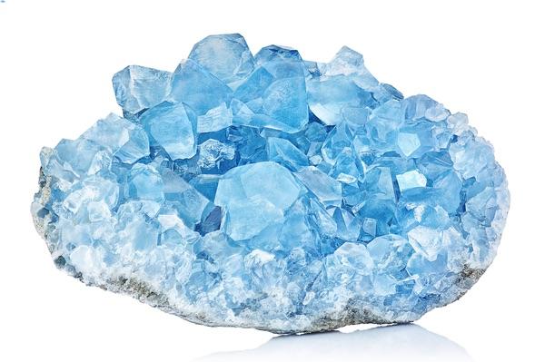 A vibrant Celestite stone