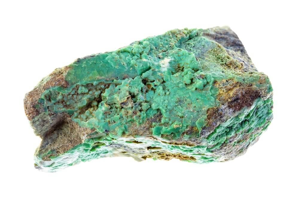 A piece of Garnierite