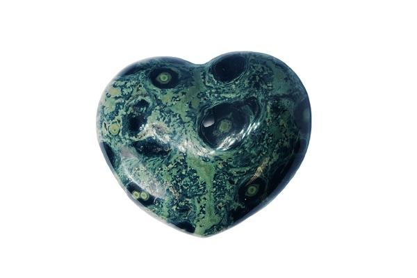 Heart-shaped Kambaba Jasper stone