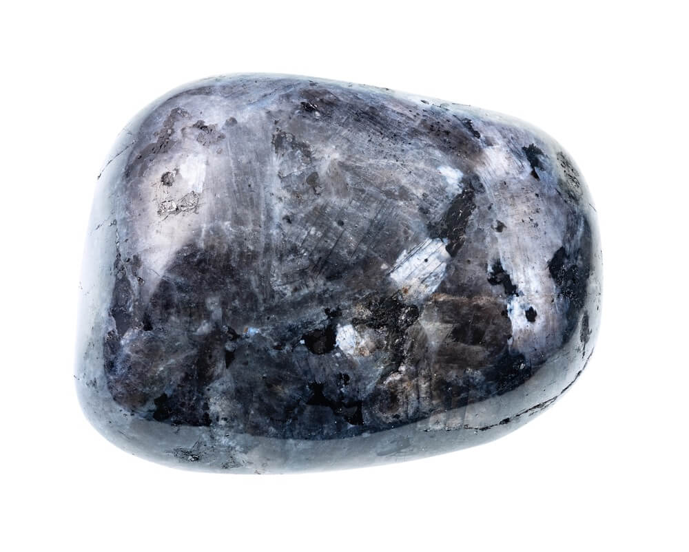 A polished piece of Larvikite