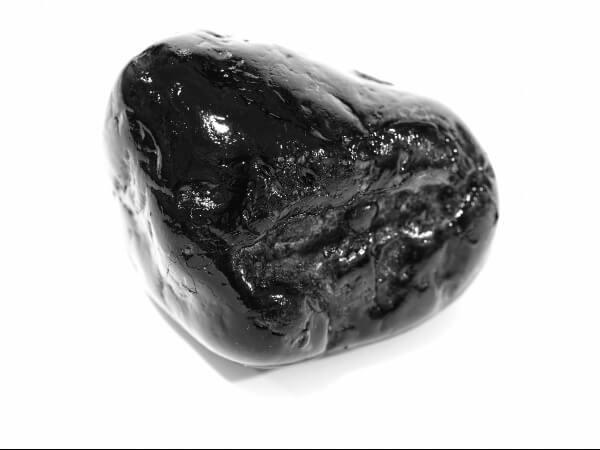 One shiny Black Jasper stone