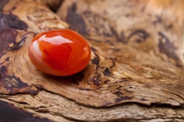 One Red Carnelian root chakra stone