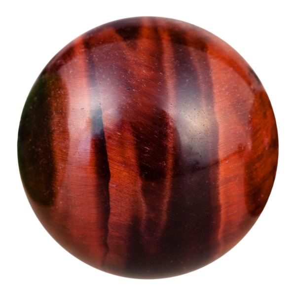 A Red Tiger's Eye sphere
