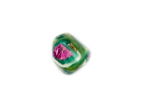 Polished Ruby Fuchsite on a white backdrop