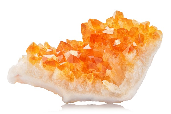 A bright orange Citrine crystal for love