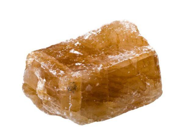 Block shaped Honey Calcite
