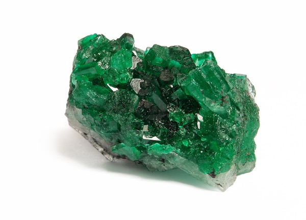 A large piece of raw emerald