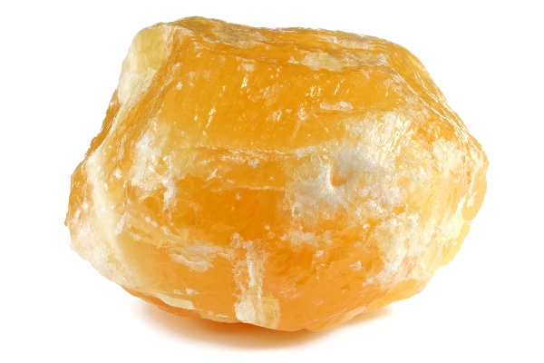 Orange Calcite being before being used on the second chakra