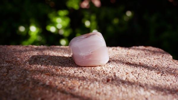 A strong Pink Opal healing stone