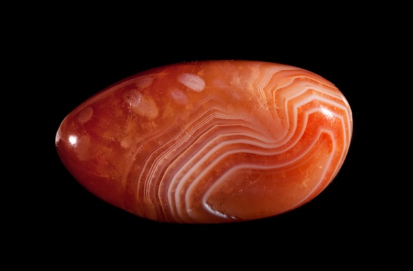 A polished piece of Red Agate