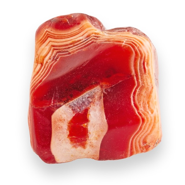 An uneven Red Agate stone