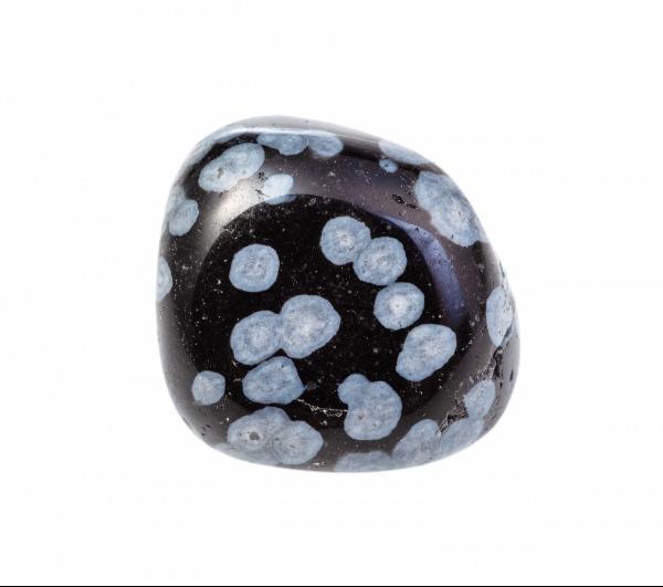A Snowflake Obsidian stone for the sacral chakra