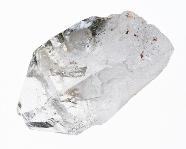An average size piece of Clear Quartz