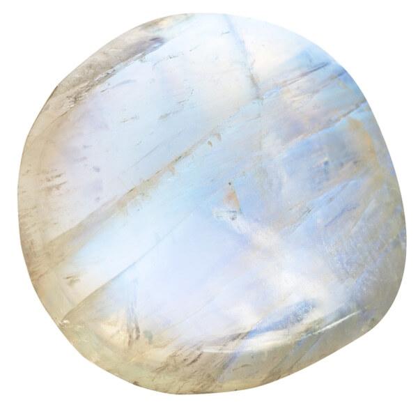 A circular polished Moonstone
