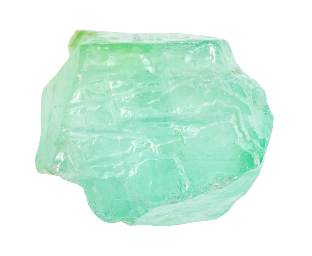 A green calcite crystal for money