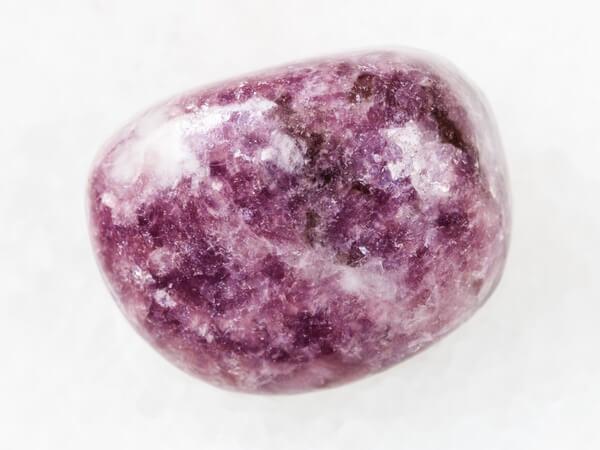 One rounded Lepidolite protection stone