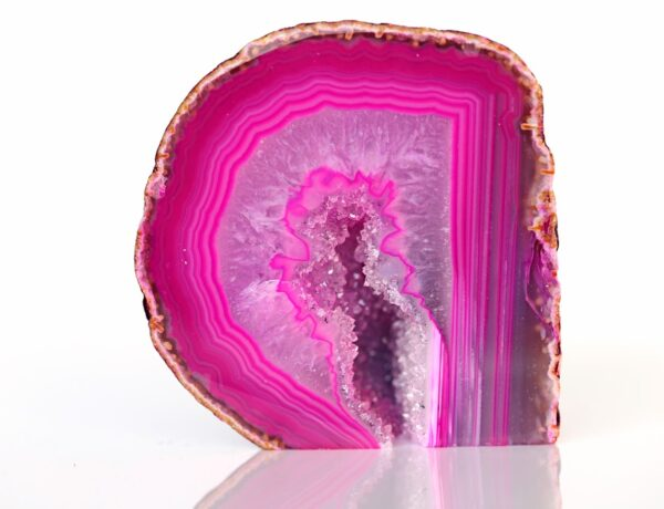 A cleaned piece of Pink Agate