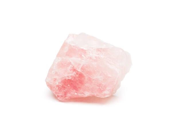 A small Rose Quartz manifestation crystal