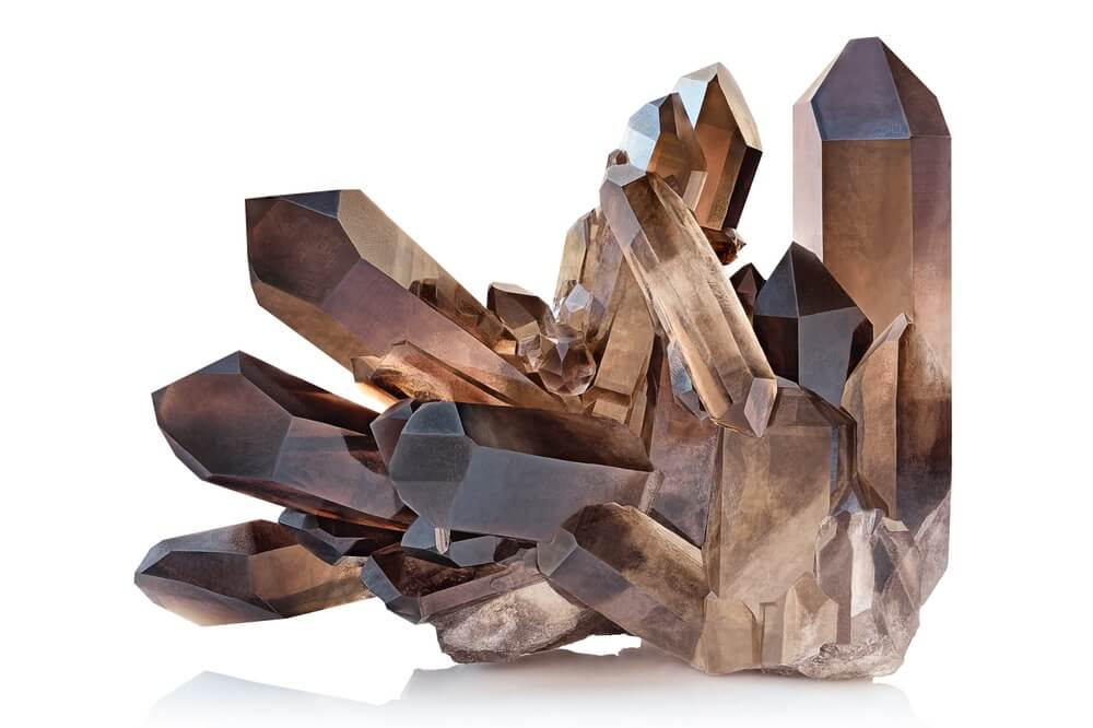 A large Smoky Quartz crystal for protection