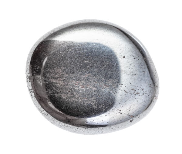 Smooth and shiny Hematite stone