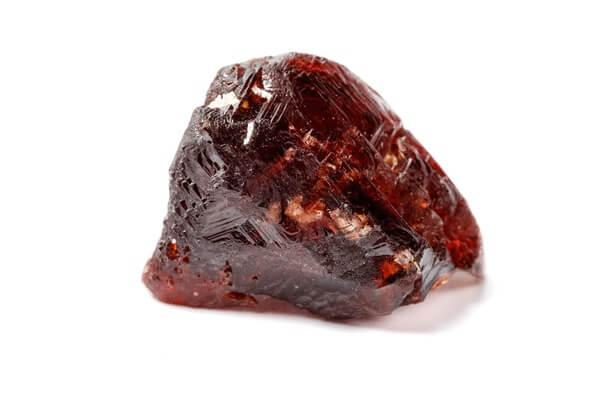 A carefully smoothed Garnet crystal