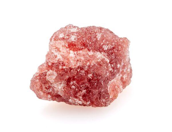 A small piece of Strawberry Quartz