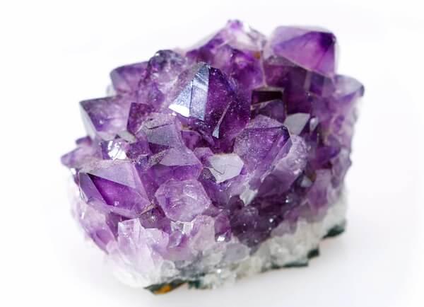 An Amethyst good luck crystal