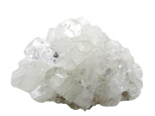 Apophyllite on a white background