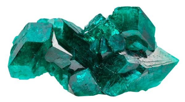A blocky Emerald crystal