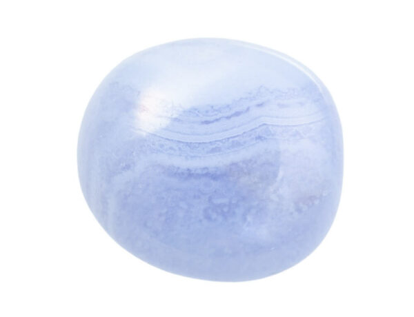 A polished piece of Blue Lace Agate