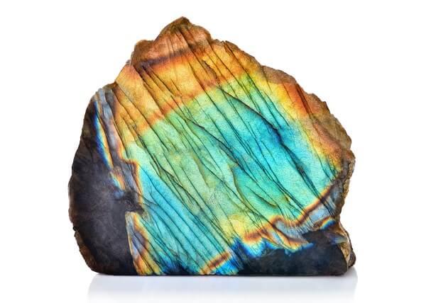 A colorful Labradorite stone