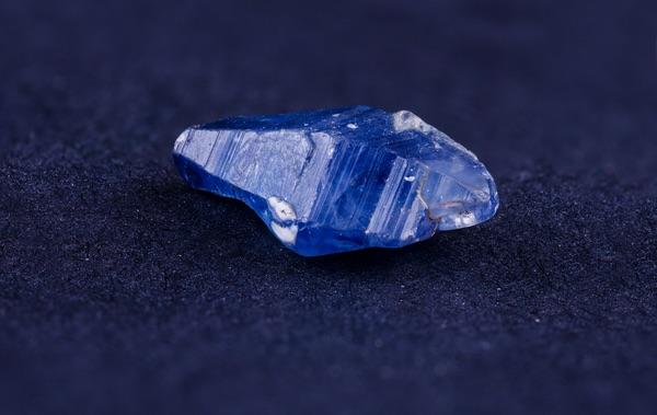 A dark Sapphire crystal