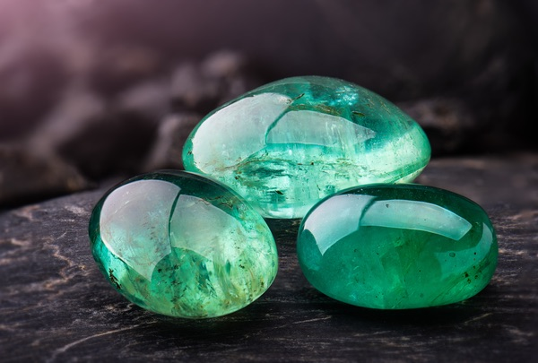 Three Emerald birthstones for Taurus