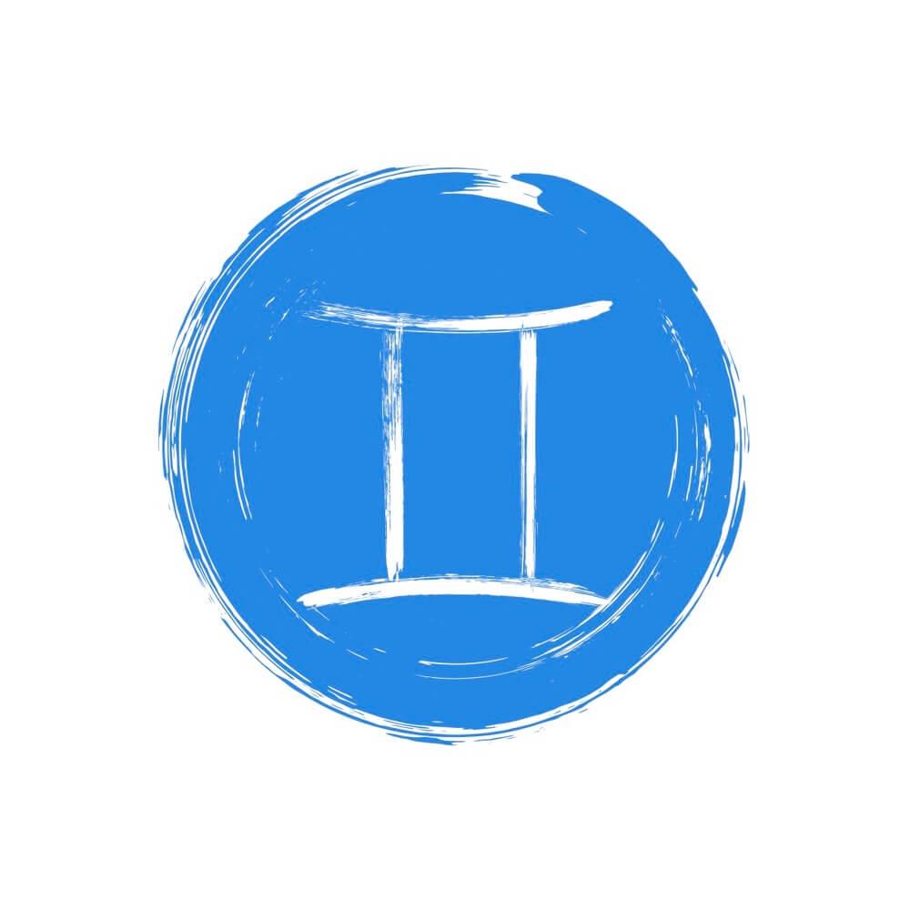 A Gemini zodiac symbol