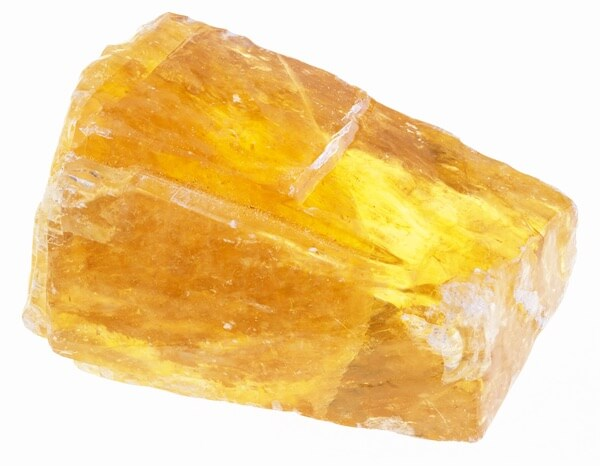 One large Orange Calcite crystal