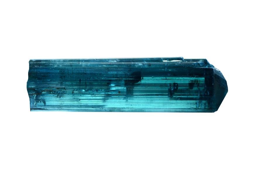 A very long piece of Blue Tourmaline