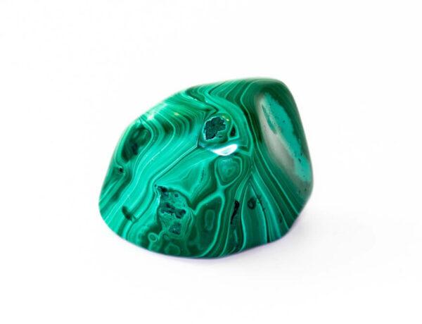 A polished Malachite stone