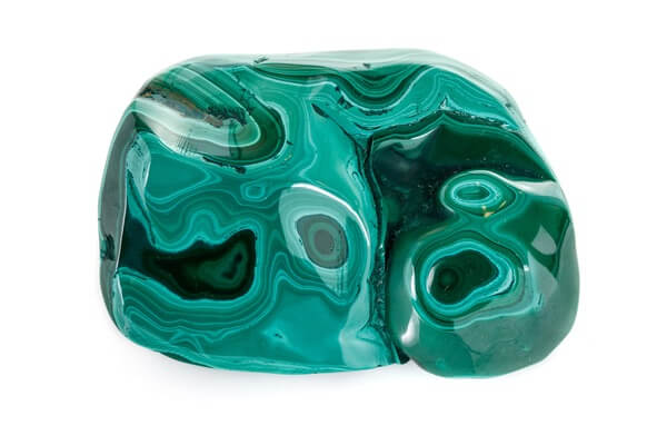 Malachite with a distinct pattern