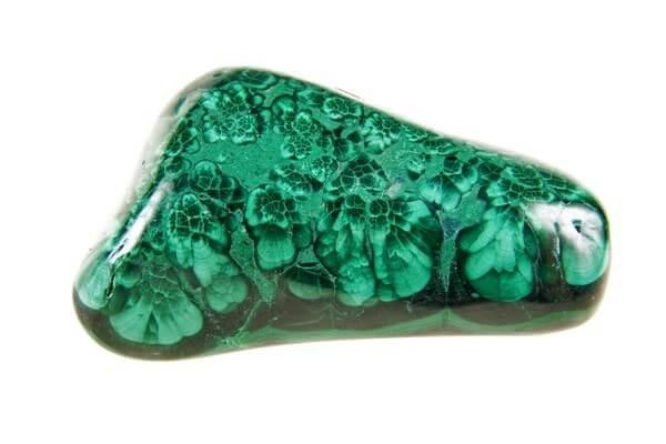 Malachite with intricate patterns