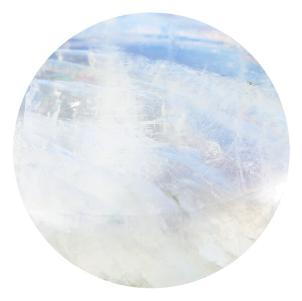 Perfectly round piece of Moonstone