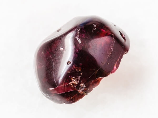 A red Garnet gemstone