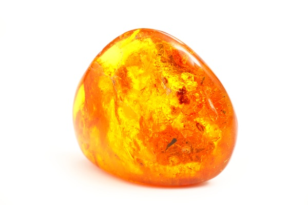 Round piece of Amber for Taurus