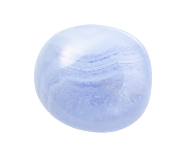 Round and shiny Blue Lace Agate