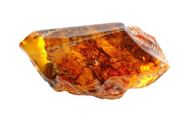 Transparent piece of Amber resin