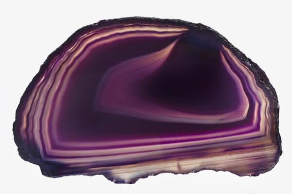 Polished dark Purple Agate