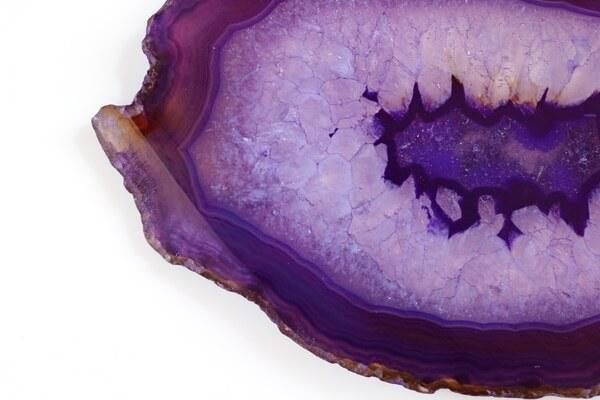 One large slice of Purple Agate