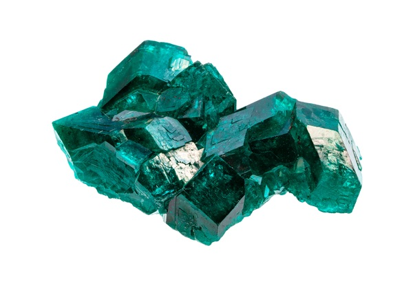 A raw blocky Emerald cluster