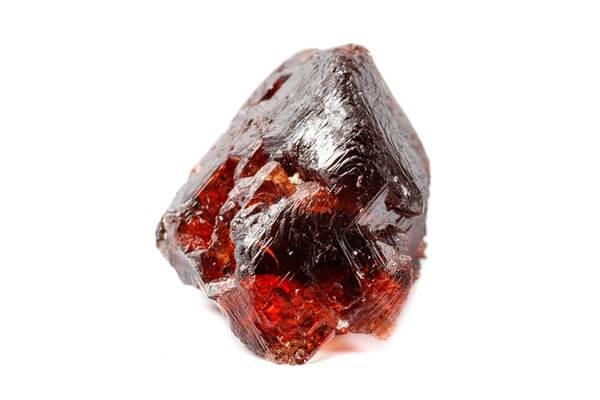 One dark Garnet stone