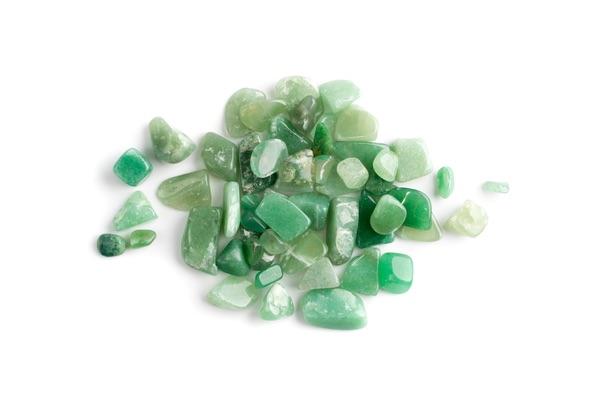 A pile of Green Quartz crystals